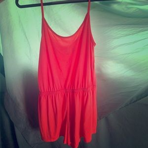 Neon pink romper really cute for summer